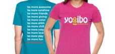 Be more awesome with Yogibo T-shirts